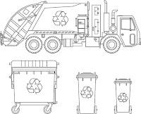 דפי צביעה משאית זבל