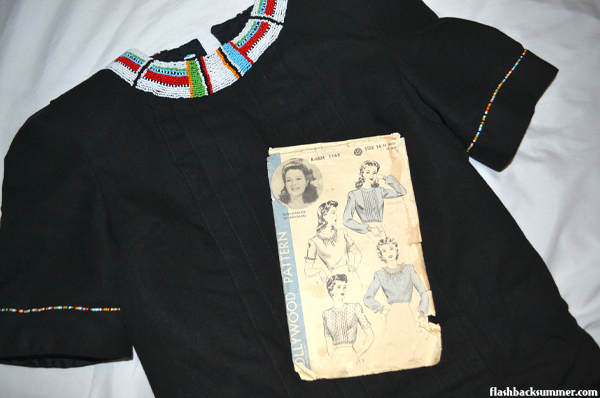 Flashback Summer: Maasai-Inspired 1940s Blouse