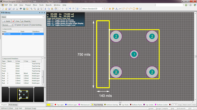 creating footprint for N connector