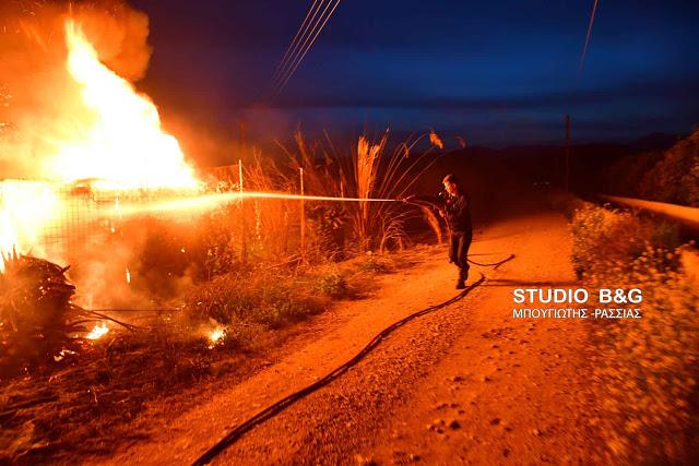 Αργολίδα: Πυρκαγιά από κεραυνό στο Νέο Ηραίο