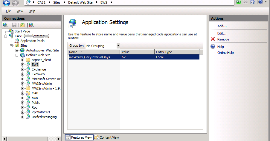 The EXPTA {blog}: Fix for MSExchange Availability Event ID