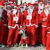 Traditioneller Wettlauf der Weihnachtsmänner in Skopje