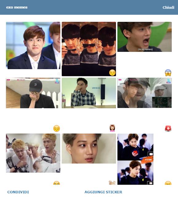 Telegram Stickers: Exo