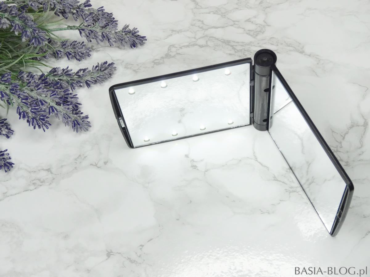 Lusterko LED do torebki podświetlane AliExpress led mirror