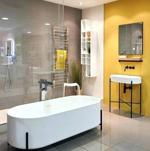 Small Bathroom Ideas Grey And Yellow Decor