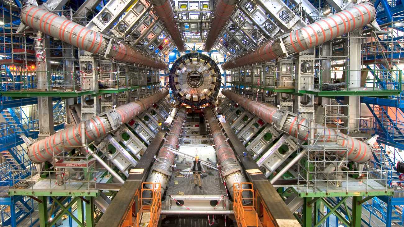 LHC's ATLAS detector, with Alpha Geek Copyright Maximilien Brice, CERN