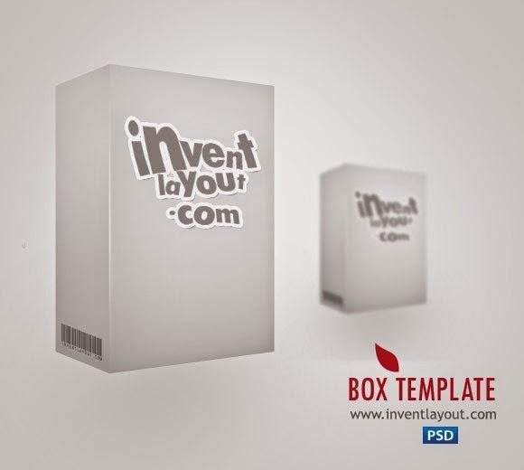 3D Box Template PSD