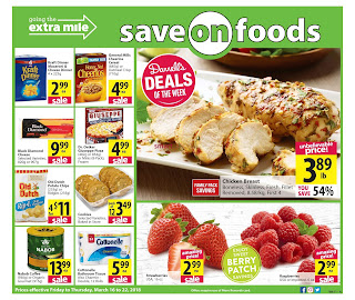 Save On Foods Flyer valid March 16 - 22, 2018