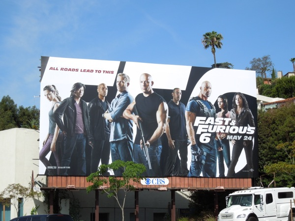 Fast Furious 6 movie billboard