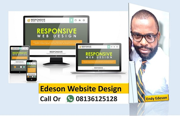 KINDLY CONTACT ENDY EDESON TO DESIGN YOUR WEBSITE