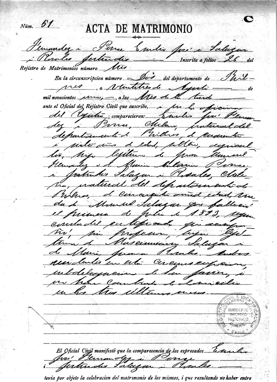 Genes de familia matrimonios en el registro civil de for Oficina registro civil