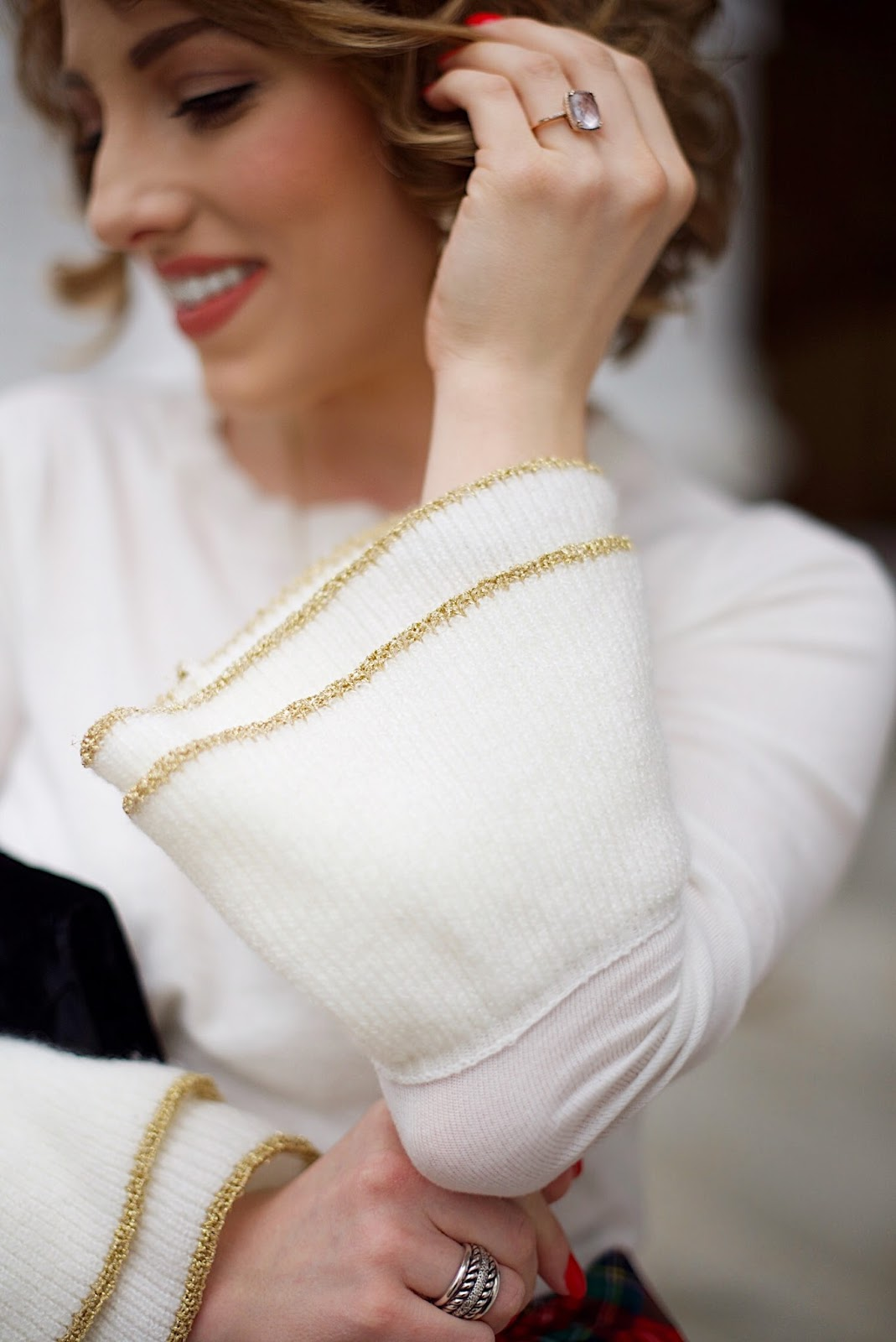 Metallic Cuff Sweater - Something Delightful Blog