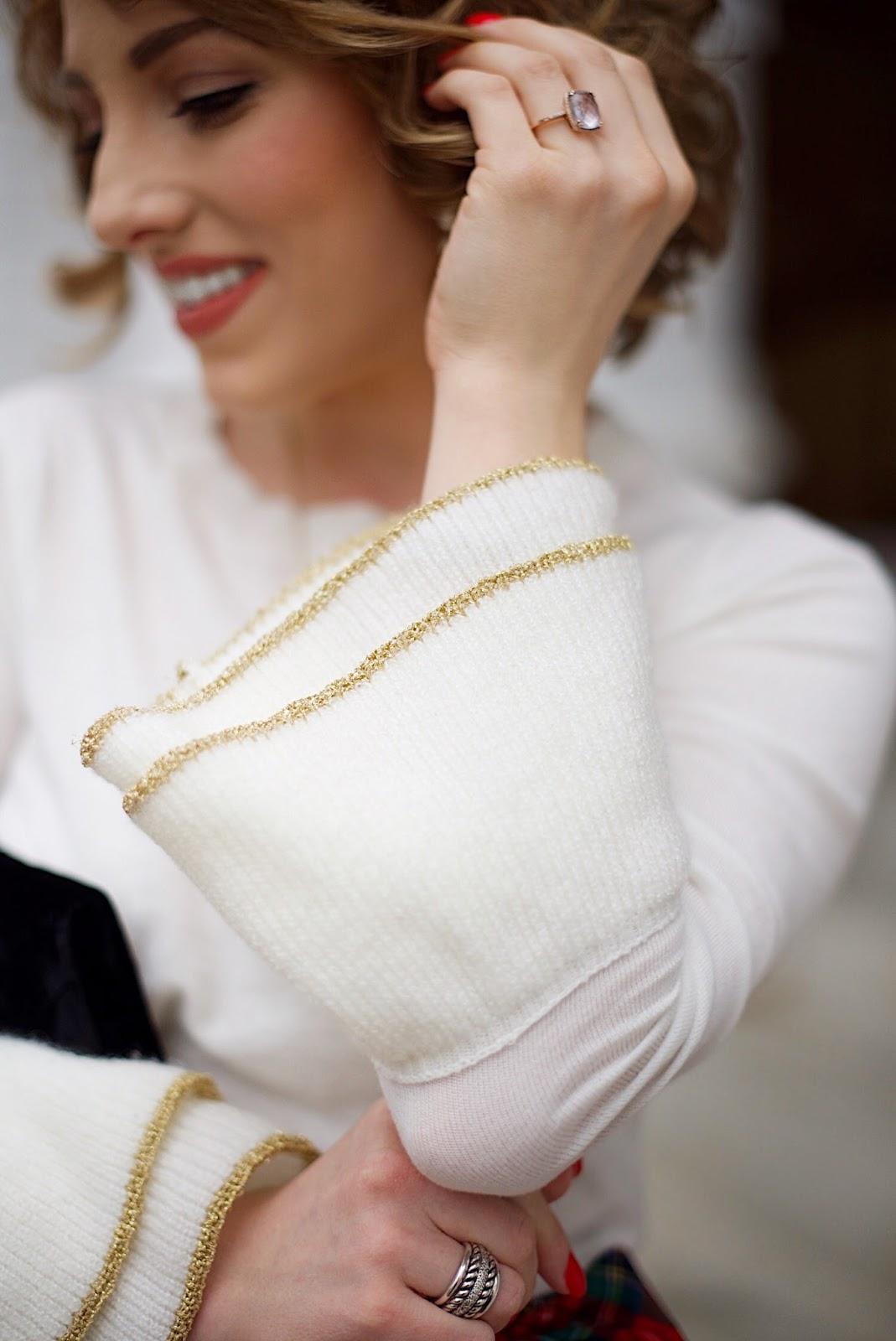 Metallic Cuff Sweater - Something Delightful Blog