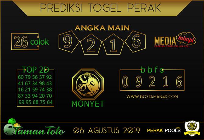 Prediksi Togel PERAK TAMAN TOTO 06 AGUSTUS 2019