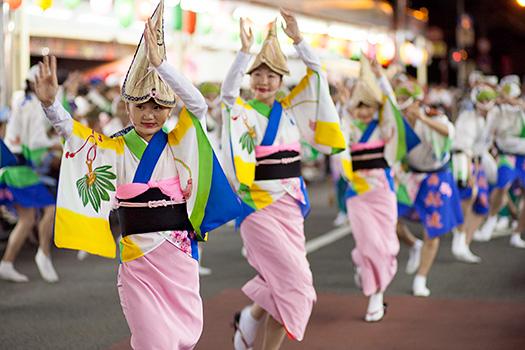 Awa Odori (dancing parade festival), Yoshinogawa, Tokushima