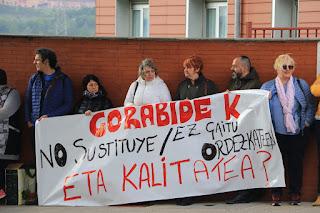 protesta trabajadores Gorabide