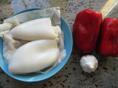 Sepia en salsa de pimientos Thermomix