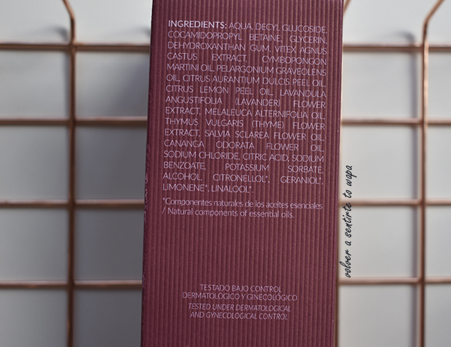 ALQVIMIA - Gel Natural íntimo con Geranio, Palmarosa y Árbol Casto