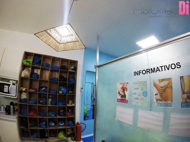Espaço Postura Pilates - Área de armários