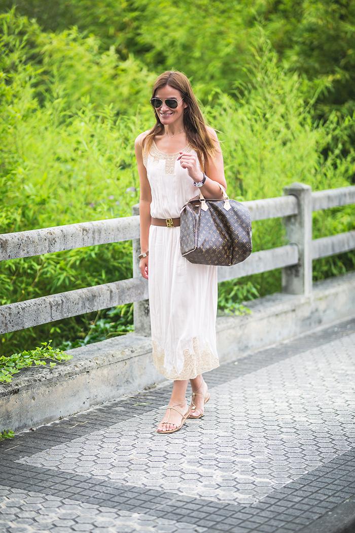 Hoss Intropia, ,vestido largo ,Vestido seda,vestido verano,personal Shopper ,Lucía Díez,vestido verano 2018,Precioso Vestido boda.
