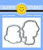 Sunny Studio Stamps: Coastal Cuties Low Profile Metal Cutting Dies