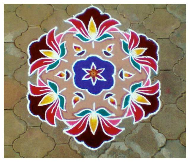 Love, Laugh and Reflect: Various Types of Rangoli Designs