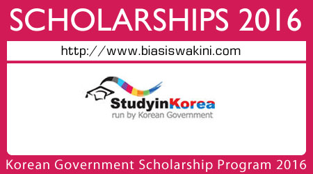 Korean Government Scholarship Program 2016