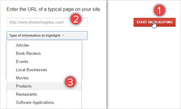 click on start highlighting button