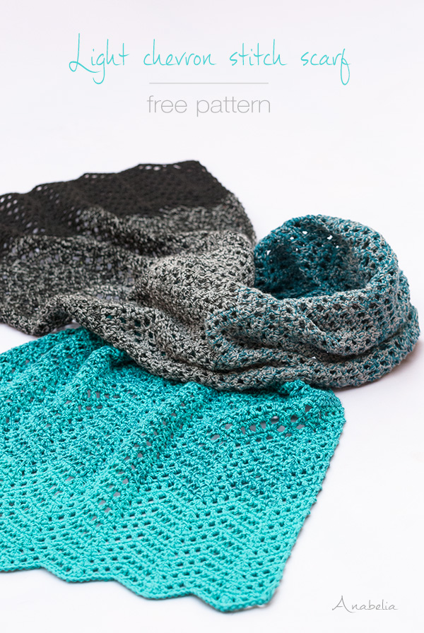 Anabelia Craft Design Crochet Shawl In Delightful Chevron Stitch