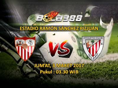 Bursa Taruhan Bola Terjitu - Prediksi Pertandingan La Liga Sevilla vs Athletic Bilbao 3 Maret 2017