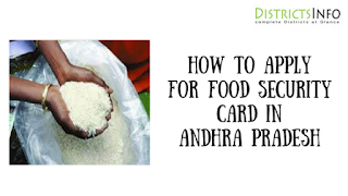 How to apply for Food Security Card in Andhra Pradesh