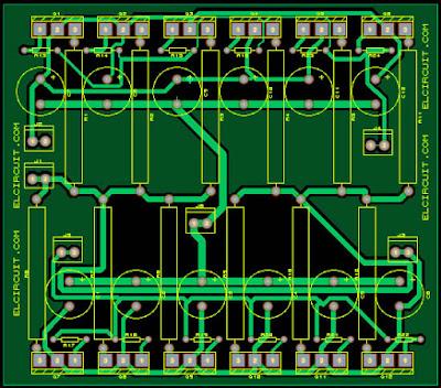 Layout final transistor amplifier