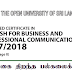 Advance Certificate in English for Business & Professional Communication - இலங்கை திறந்த பல்கலைக்கழகம்