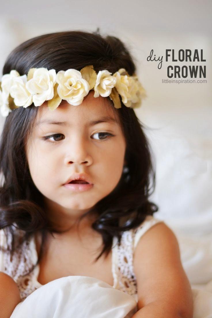 diy corona flores para niña