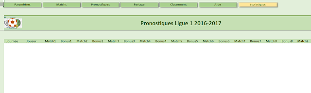 Excel - Pronos Ligue1 2016-2017