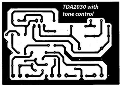 Simple Tone Control Circuit Diagram TDA2030   Electronic ...