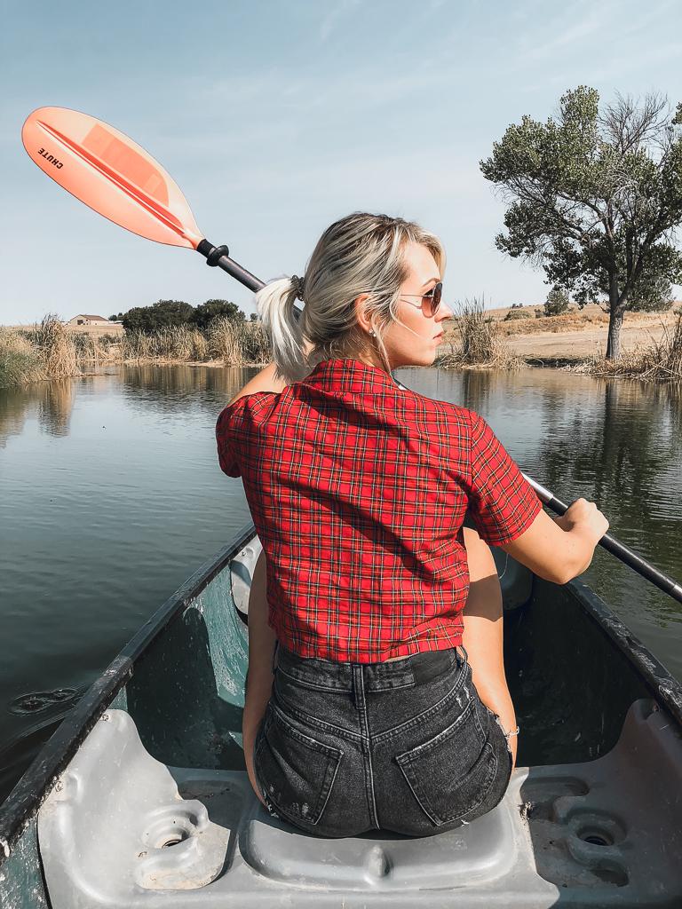 canoe ride glamping