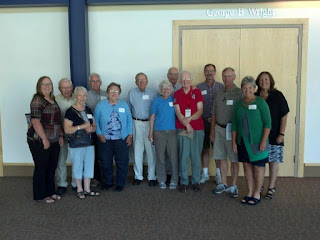 Extension retirees at a luncheon