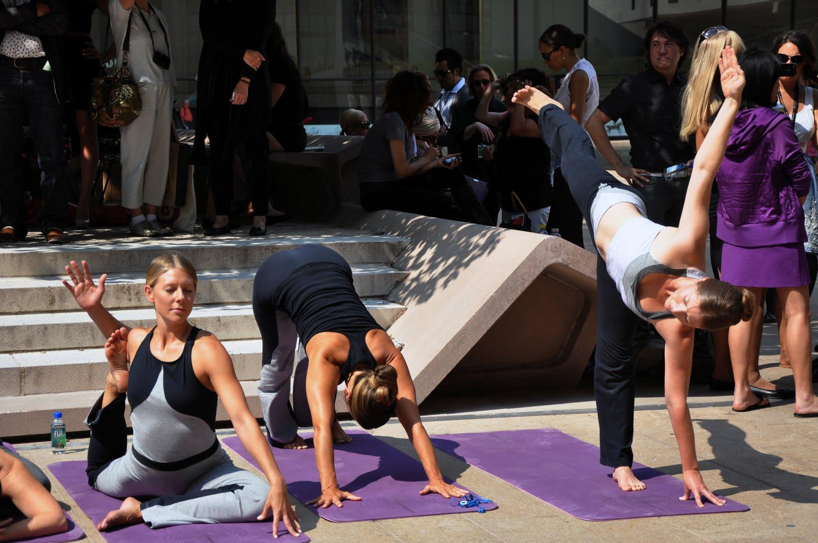 New York Yoga: New York Yoga at Fashion Week!