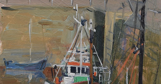 Trawlers in Cornish Harbour