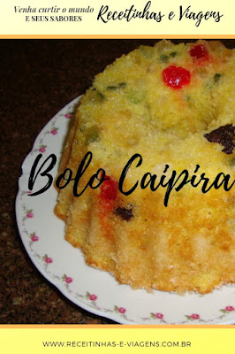 Receita de bolo caipira