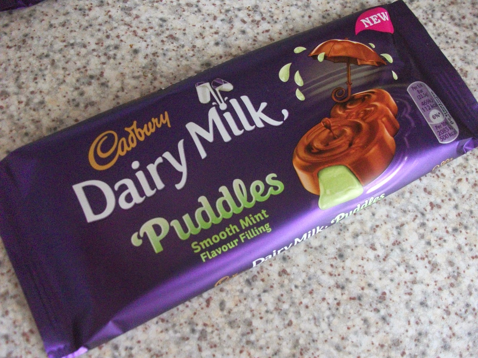 cadbury dairy milk puddles smooth mint