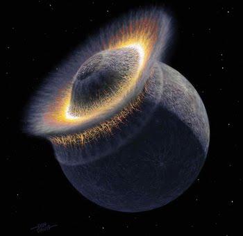 Impacto masivo hace 1.6 billones de años