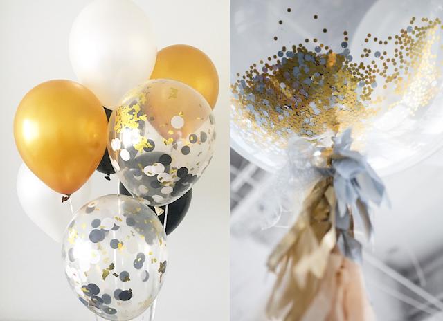 3. Des ballons remplis de confettis