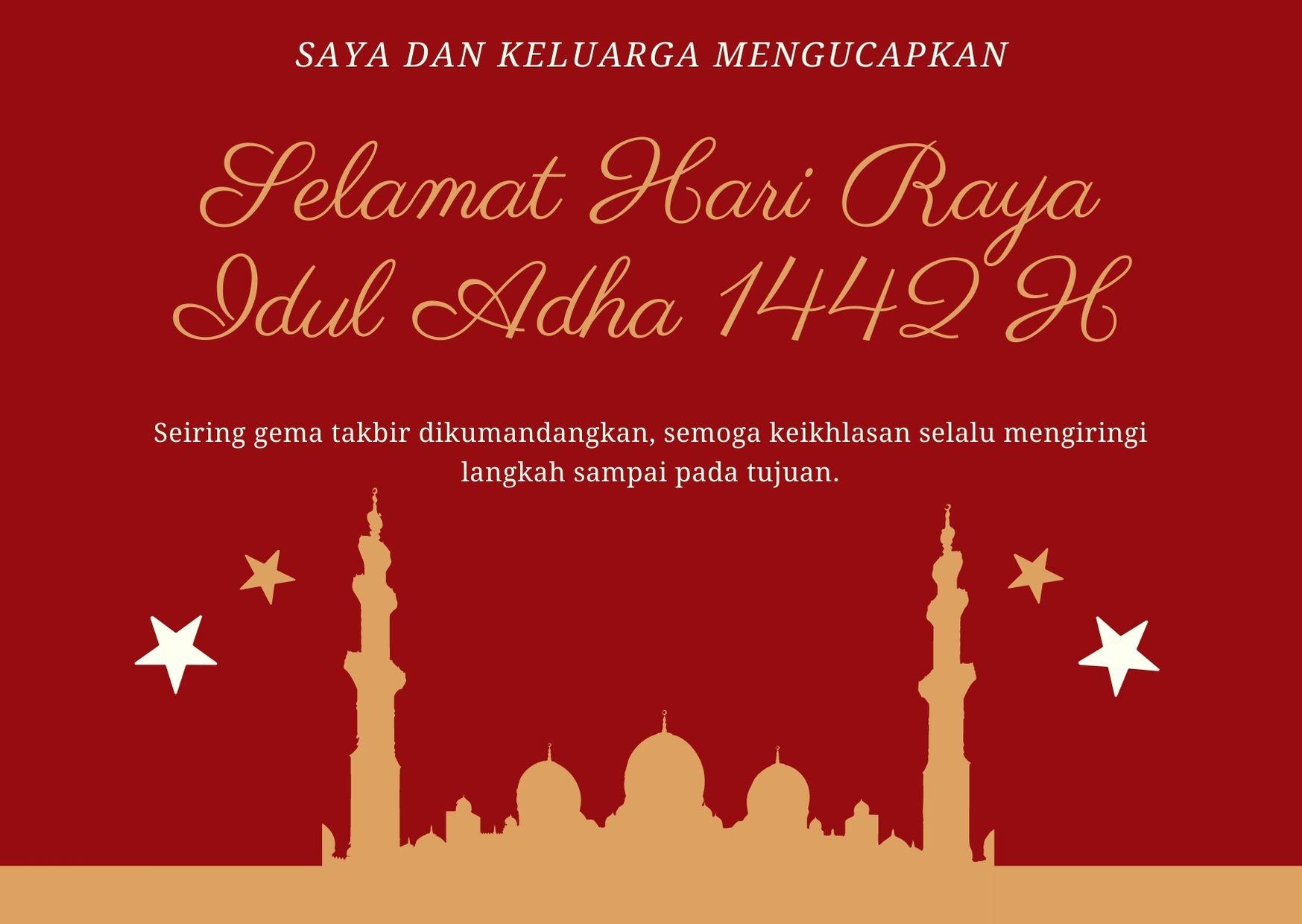 Kartu Ucapan Selamat Idul Adha Untuk Kerabat Jauh
