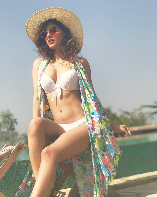 Karishma Sharma Looks Damn Hot In White Bikini