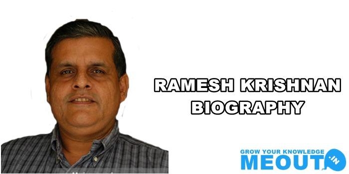 रमेश कृष्णन का जीवन परिचय Ramesh Krishnan Biography In Hindi