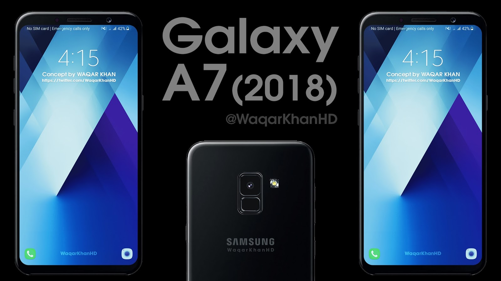 Galaxy A7 (2018) with Infinity Display and Rear ...