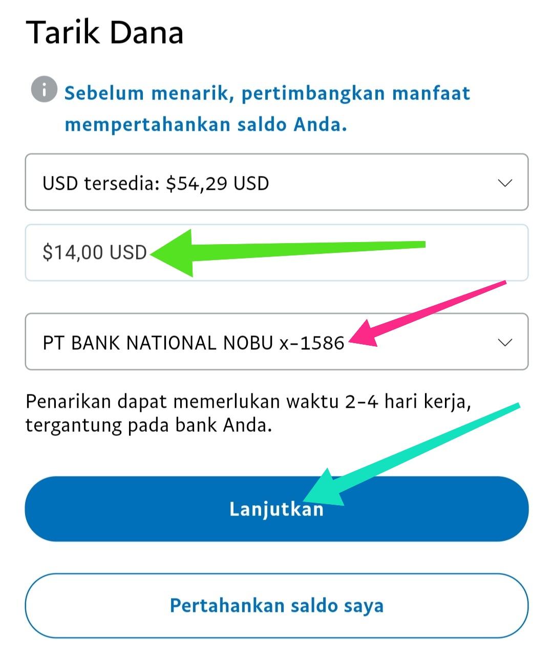 cara tarik uang Paypal ke ovo