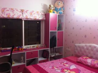 Kids Room in Pink with Study table
